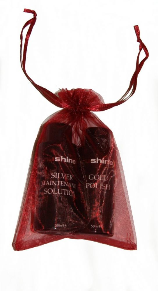 Mix and Match 2 bottles in this beautiful Red Organza bag!